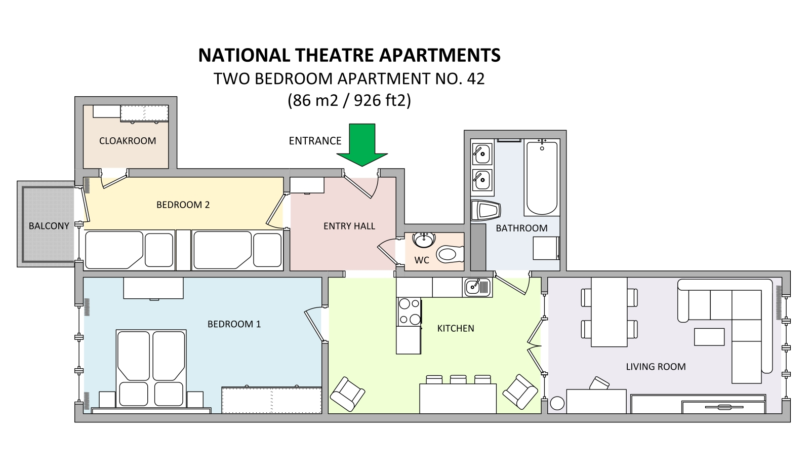 National theatre floor plan 28 images gallery of for Domus apartments prague