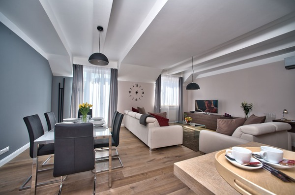 Prague city apartments vacation long term fully serviced for Designer apartment prague